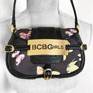 NWOT BCBGIRLS Butterfly Print Mini Bag Purse